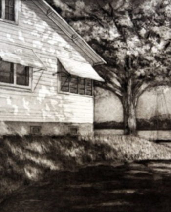 End of Lake Street, Intaglio - Lee Ann Frame