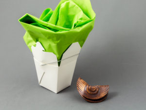 Ceramic Fortune Cookies by Cyndi Casemier