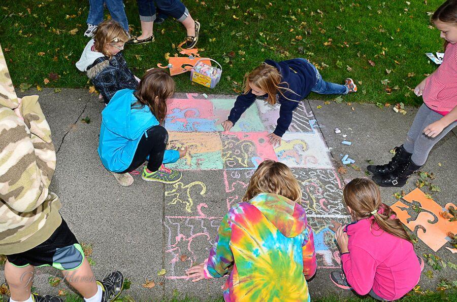 students at artwalk 2014