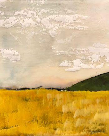 encaustic landscape painting by ronnna alexander