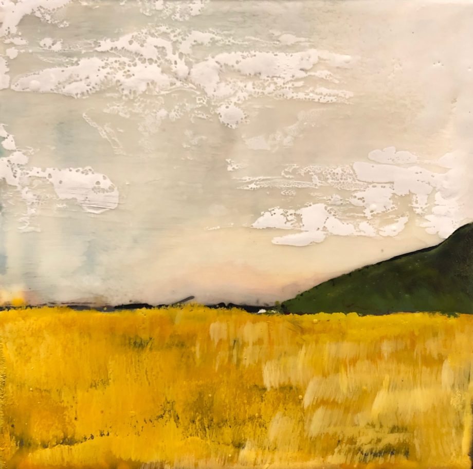 encaustic landscape painting by ronnna alexander