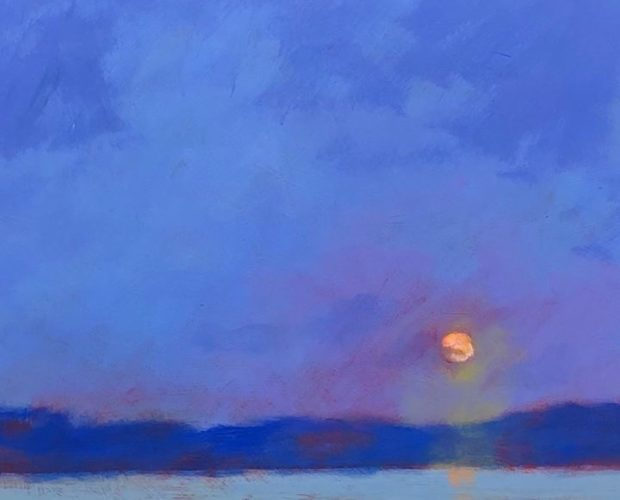 original moonrise painting by mark mehaffey