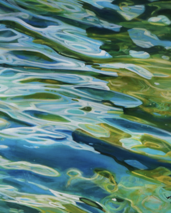 Running Water painting by Michelle Courier