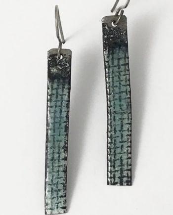 enameled steel stick earrings
