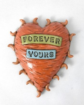 forever yours clay heart wall tile