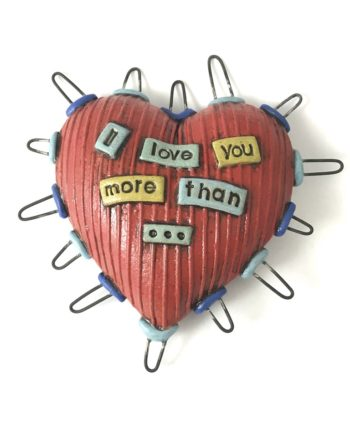 wire spiked clay heart by cory mccrory