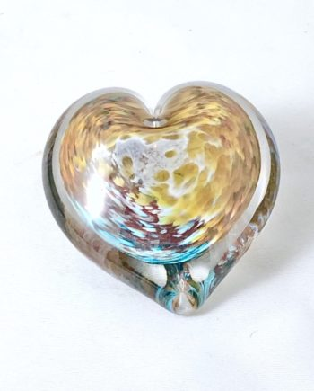 fireapple azul glass heart