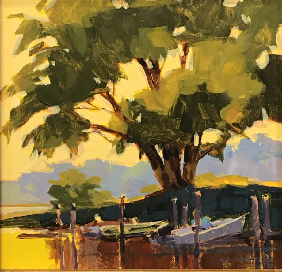 shade of the oak acrylic painting by mark mehaffey
