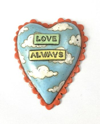 Love Always Clay Heart Wall Tile