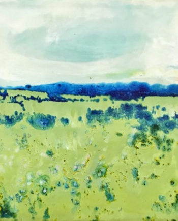 landscape encaustic painting by ronna alexander