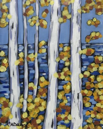 summer birch series original painting by christi dreese