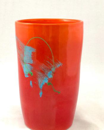 Wine Chiller, Vase, Utensil Holder in Red by Michael Kifer