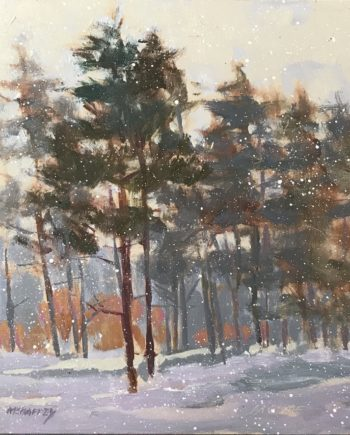 Winter Pines by Mark Mehaffey