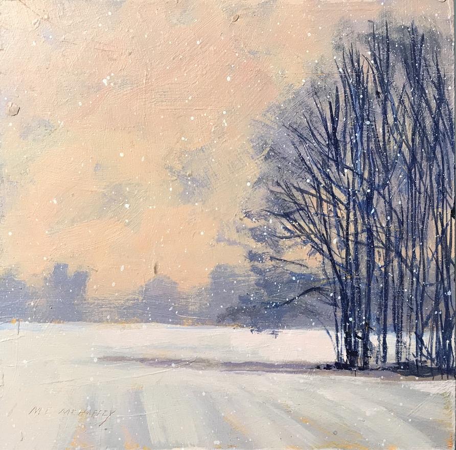Winter - Acrylic Painting by Mark Mehaffey