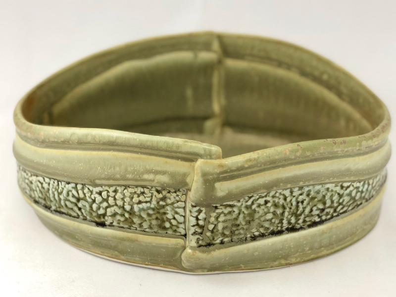 Hand Built Porcelain Landscaped Salad Bowl