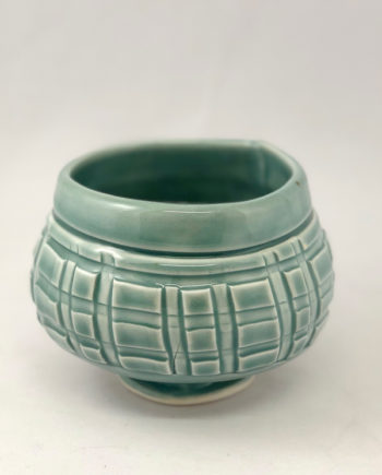 Textured tea bowl, hand built by Marion Angelica