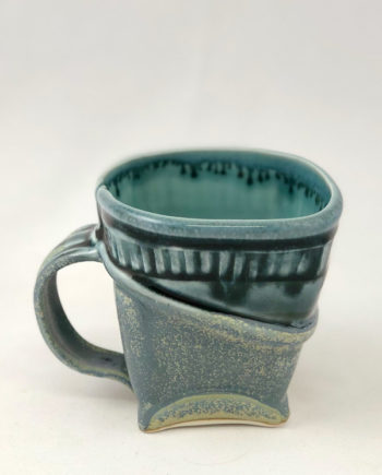 Blue Softly Squared Mug by Marion Angelica