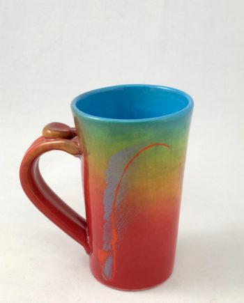 Multi-Color Tall Mug, handmade by Michael Kifer