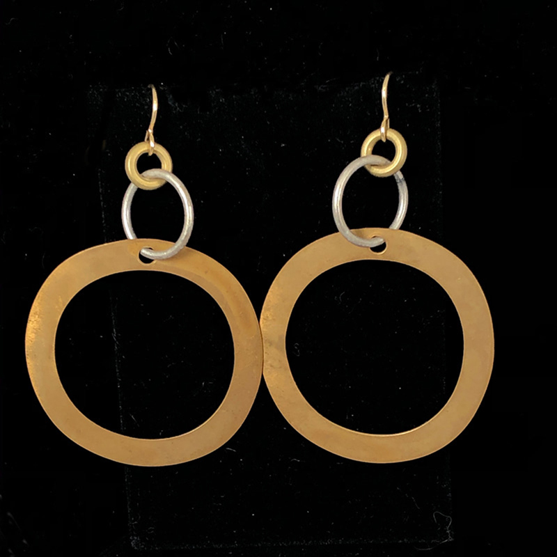 larger handmade flat hoop earrings