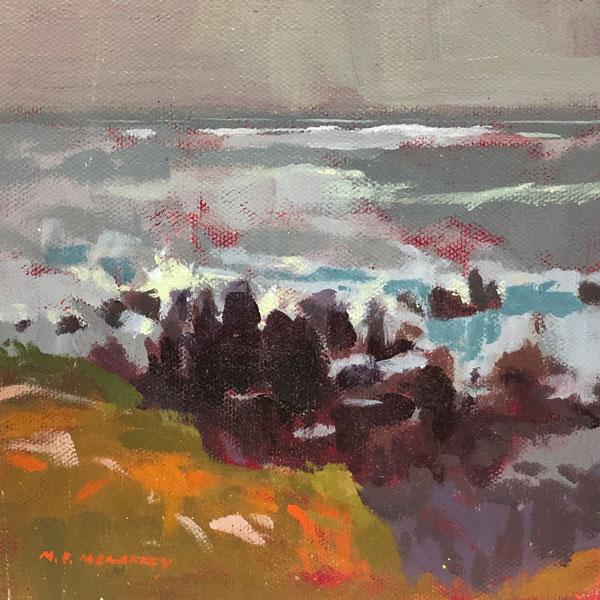 Beach Rocks acrylic painting by Mark Mehaffey