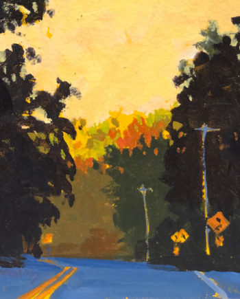 Fall Drive Acrylic Painting by Mark Mehaffey