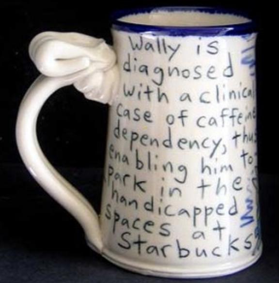 Wally Starbucks mug