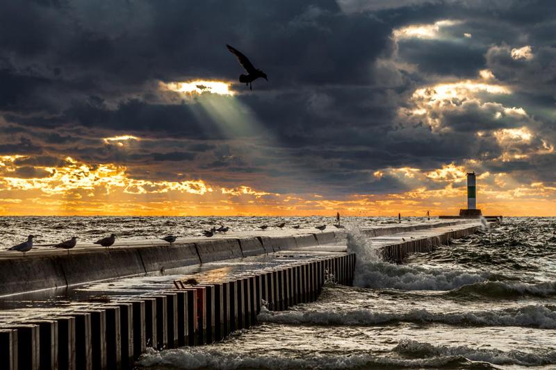 North Pier Sunset Art Photograph by Bob Walma